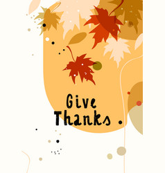 trendy abstract thanksgiving template good vector image