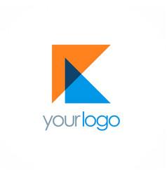 Triangle letter k logo vector