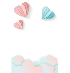 vertical love card for valentine s day with free vector image