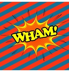 Wham comic text vector