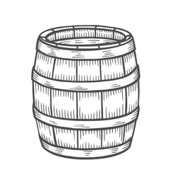 wine or beer barrel isolated vector image