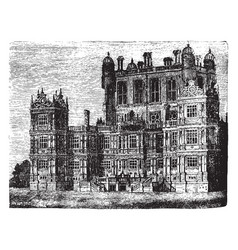 Wollaton hall a country house vintage engraving vector