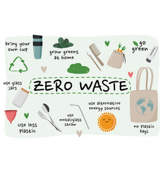 Zero waste element collection ecological vector