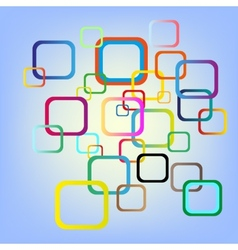 abstract color squares background vector image vector image
