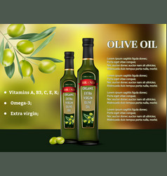 olive oil products ad 3d vector image
