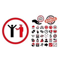 Police Arrest Flat Icon with Bonus vector image