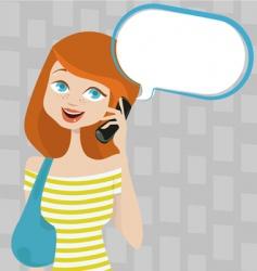 talking girl vector image vector image