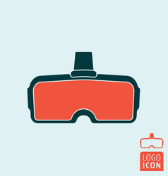 vr glasses icon vector image