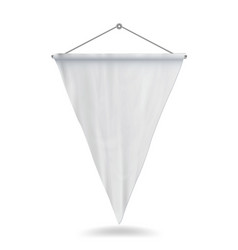 white pennant template empty vector image