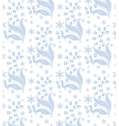 winter flowers vector image vector image
