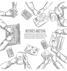 Business Meeting Sketch vector image vector image