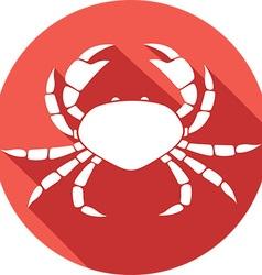 Crab Icon vector image vector image