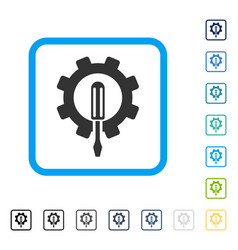 engineering framed icon vector image vector image