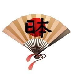 Fan in japanese style vector