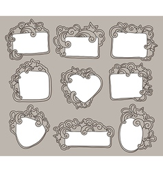 funky frames set vector image