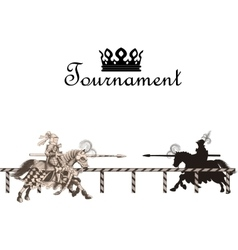 Knight Medieval Tournament vector image
