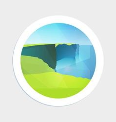 Seascape of Irelands coast vector image vector image
