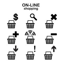 Web shopping icons vector image