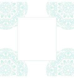 Baby blue mandala card template background vector image