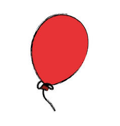 Balloons birthday decoration vector