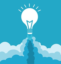 Bulb with rocket nozzles vector image
