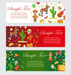 cinco de mayo celebration in mexico banner set vector image vector image