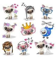 Cute anime kitten vector