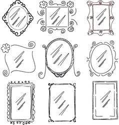doodle frames vector image vector image