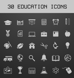 Light education icon set vector image vector image