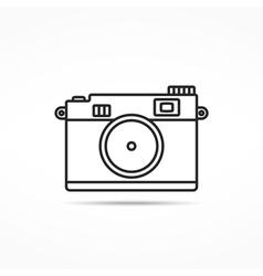 Retro Photo Camera Line Icon vector image
