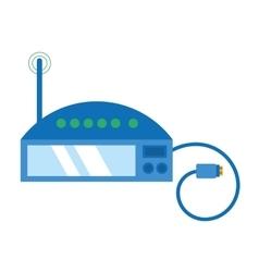 Router internet connection modem usb cable vector