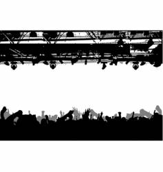 show crowd silhouette vector image