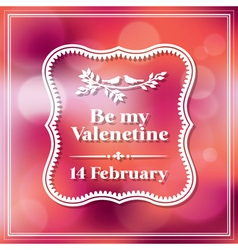 Valentine and wedding card Bokeh Background vector image vector image