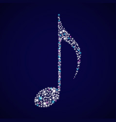 a brilliant musical note vector image