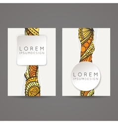 A set of two designs for brochures leaflets vector image