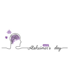 alzheimer s day simple background web banner vector image