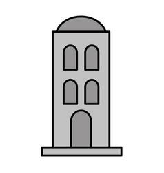 antique building desert architecture vector image