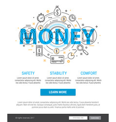 banking service and finance concept vector image