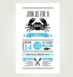 Barbecue party invitation BBQ brochure menu design vector image