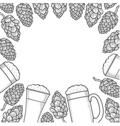 beer menu design template vector image