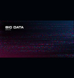 big data visualization abstract data background vector image