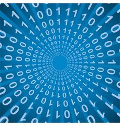 Binary code bang radial pattern vector