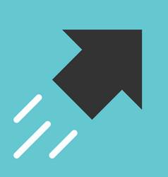 black arrow moving upwards vector image