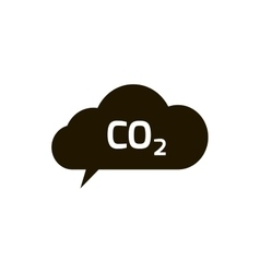 Co2 emissions icon cloud flat carbon vector