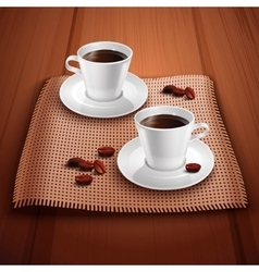 Coffee Realistic Background vector