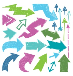 Colored Arrows vector image