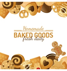 cookie background vector image