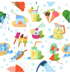 Cooling things for summer pattern vector