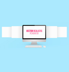 Creative of render monitor vector