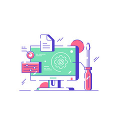 Customization and setting design online vector